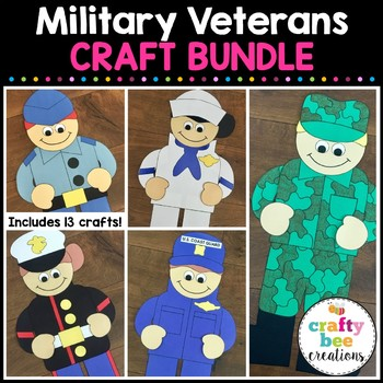 Military Veterans Cut and Paste Set (Veteran's Day)