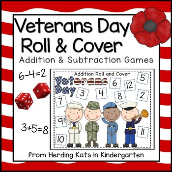 Military Veterans Day Themed Roll & Cover Addition & Subtr