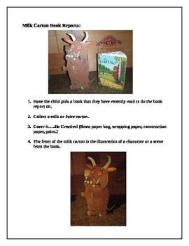 Milk Carton Book Report