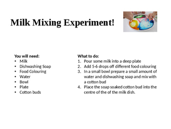Milk Science Experiment