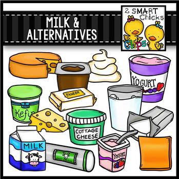 Milk and Alternatives Clip Art