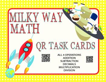 Milky Way Math- All Operations Basic Skills Practice QR  o