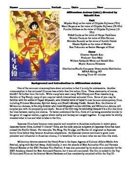 Millennium Actress Film (2001) Study Guide Movie Packet