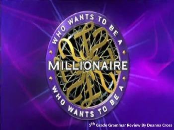 Millionaire Language Review Game - Conventions