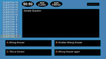 Millionaire: Multiple Choice QA Game