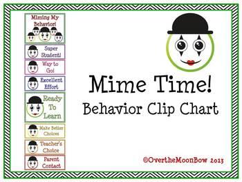 Mime Time! Behavior Clip Chart