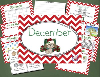 Mimio December Calendar Morning Meeting