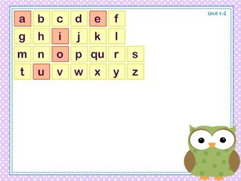 Mimio Letter Tiles - Grade 1 - Owl Themed