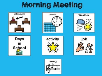 MIMIO ONLY Morning Meeting With Symbols