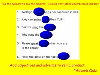 Mimio Parts of Speech Review (with ad-lib activities) for