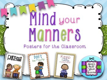Mind Your Manners:  Posters for the Classroom - Vintage Set