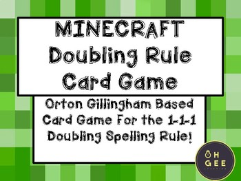 Mindcraft Doubling Rule Card Game- Orton Gillingham