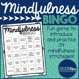 Mindfulness BINGO Game and Task Cards for School Counselin