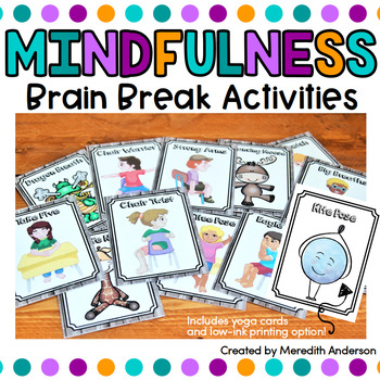 Mindfulness Brain Breaks and Yoga Cards
