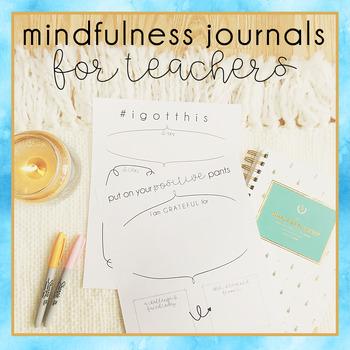 Mindfulness Journal Templates for Teachers