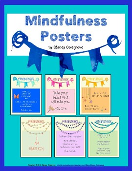 Mindfulness Posters--Affirmations, Positivity, Meditation, Growth Mindset by The Learning Lab by Stacey Colegrove