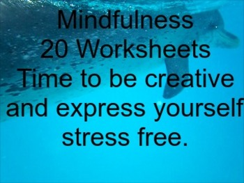 Mindfulness Worksheets with Listology Pack of 20.  Creativ