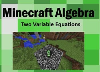 Minecraft Algebra - Basic Two Variable Equations