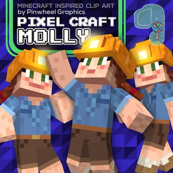 Minecraft Clip art- Pixel Craft Molly