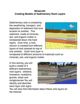 Minecraft: Creating A Model of Sedimentary Rock Layers