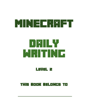 Minecraft Daily Handwriting Practice & Writing Lessons (in