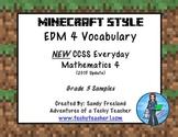 Grade 3 Math Vocabulary Words New Everyday Math 4-Minecraf