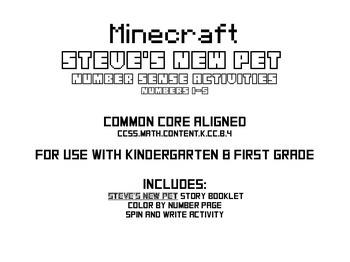 Minecraft Number Sense #1-5