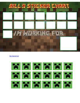 Minecraft Sticker Chart