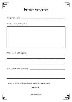 Minecraft & Terraria Worksheets