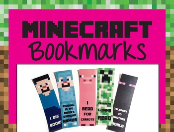 Minecraft Bookmarks: Steve, Enderman, Diamond Armor Steve,