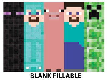 This is a picture of Hilaire Minecraft Bookmarks Printable