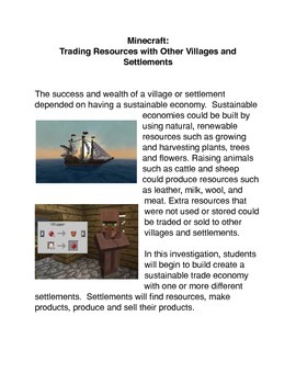 Minecraft: Trading Resources with Other Villages and Settl