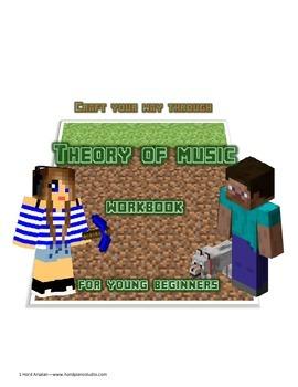 Minecraft themed Theory of music Workbook