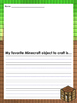 Minecraft themed Writing Prompts