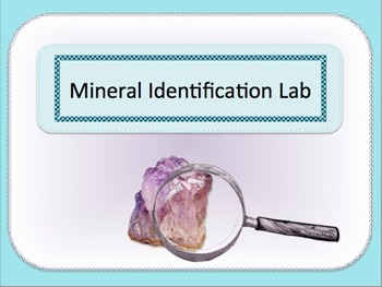 Mineral Identification Lab