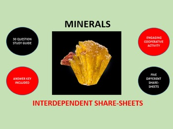 Minerals: Interdependent Share-Sheets Activity