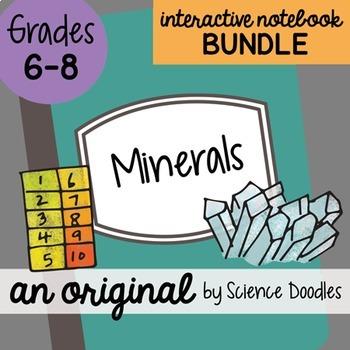 Minerals Science Doodles Interactive Notebook Bundle
