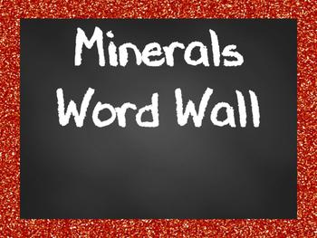 Minerals Word Wall