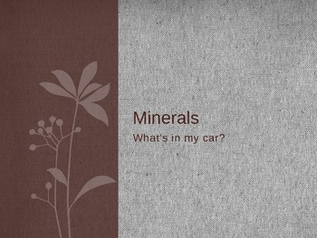 Minerals in a car slideshow