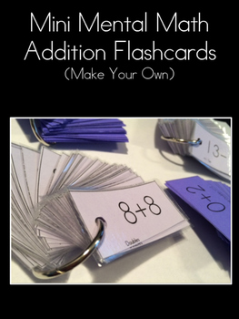 Mental Math Flashcards