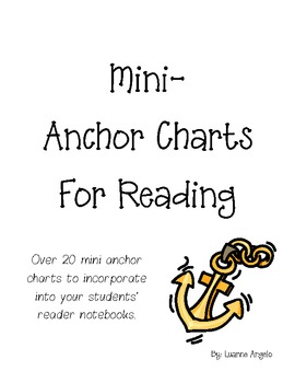 Mini Anchor Charts for Reading