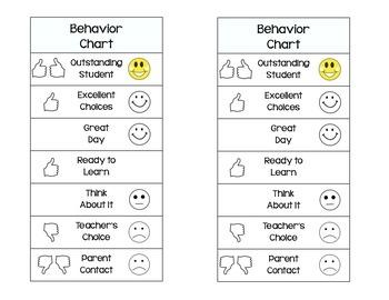 Mini Behavior Chart