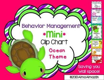 Mini Behavior Management Clip Chart Ocean-Editable