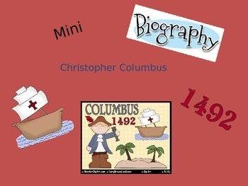 Mini Biography Christopher Columbus
