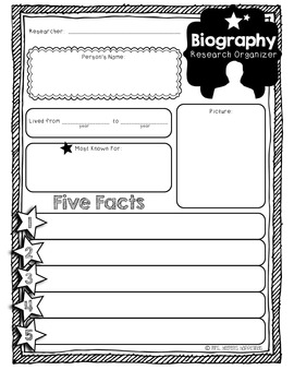Mini Biography Organizer & Writing Paper