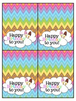 Mini Birthday Cards!
