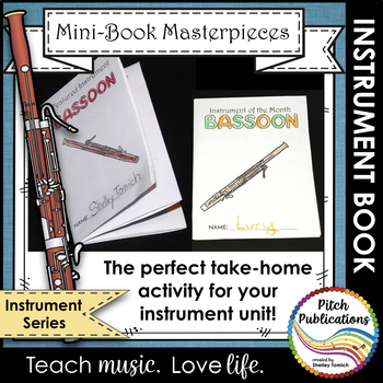 Mini-Book Masterpieces: Instrument Series - BASSOON!
