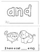 "Mini-Book: Sight Word ""and"""