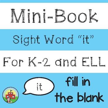 """Mini-Book: Sight Word """"it"""""""
