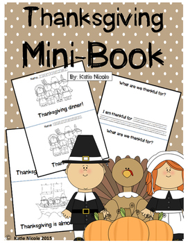 "Mini-Book ""Thanksgiving Dinner"""